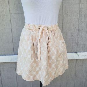 NWT J.Crew Cotton Lattice Light Peach Pocket Skirt